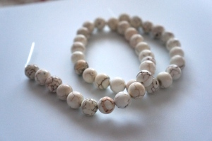 White Magnesite beads