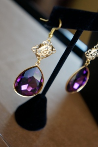 GRACE EARRINGS - AMETHYST SWAROVSKI DROP EARRINGS