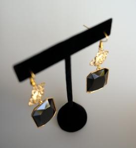GRACE EARRINGS - JET BLACK SWAROVSKI DROP EARRINGS
