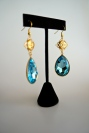 GRACE EARRINGS - AQUAMARINE SWAROVSKI DROP EARRINGS