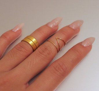 KNUCKLE RING SET by VSXNSTA