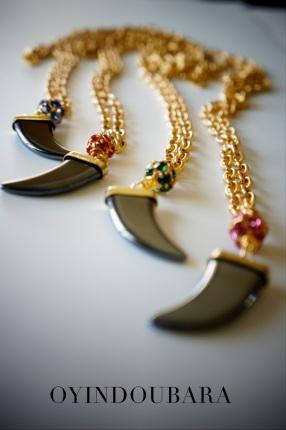 Italian Horn pendant necklace