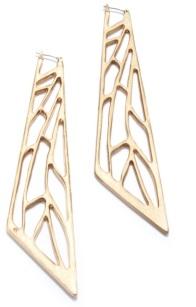 geometric earrings. openwork drop earrings