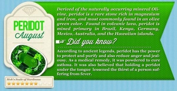 about peridot gemstone