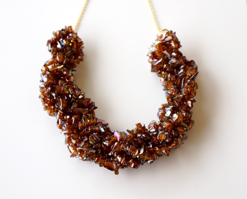chip bead necklace - sparkle