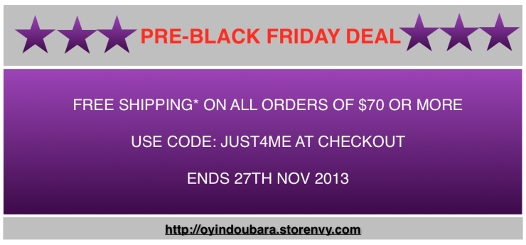 pre black friday deal online oyindoubara jewelry