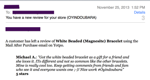 white magnesite bracelet review oyindoubara jewelry