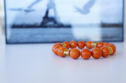 orange riverstone bracelet oyindoubara $26.50