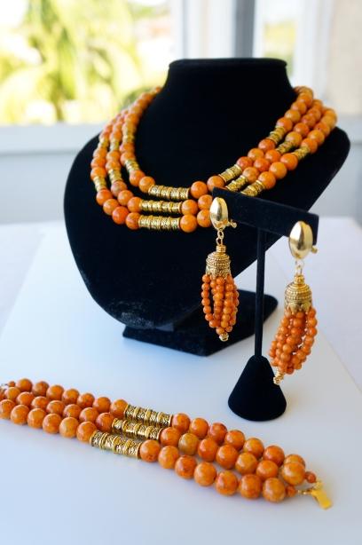 riverstone orange beads oyindoubara