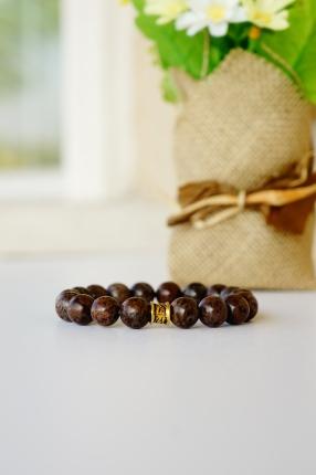 oyindoubara brown snowflake jasper beaded bracelet