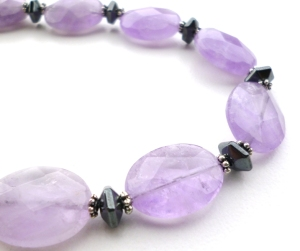 Amethyst necklace, february birthstone, amethyst jewelry, handmade jewelry, amethyst gemtone necklace, big skies jewellery
