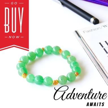 mint green bracelet by oyindoubara jewelry