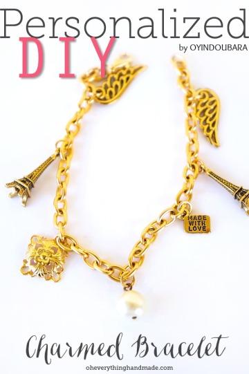 personalized charm bracelet by oyindoubara jewelry