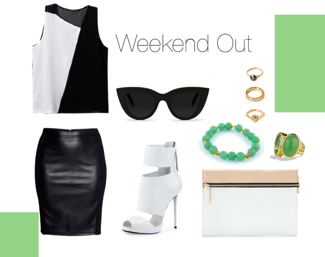 green bracelet outfit idea with adventure awaits by oyindoubara jewelry