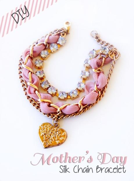diy pink silk wrapped bracelet