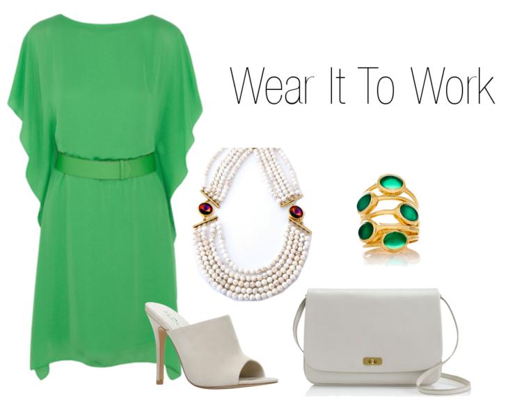 wear-it-to-work-emerald-dress-aldo-mule