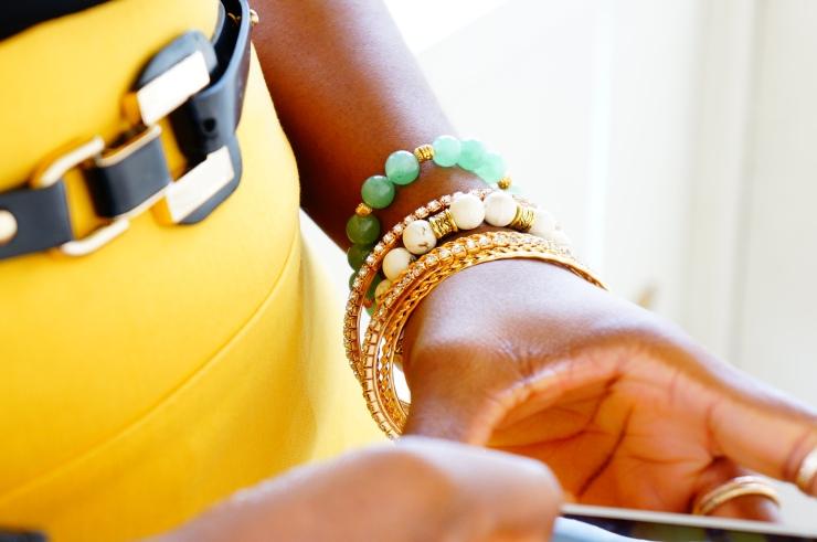 oyindoubara-white-magnesite-bracelet_and_green-aventurine-bracelets