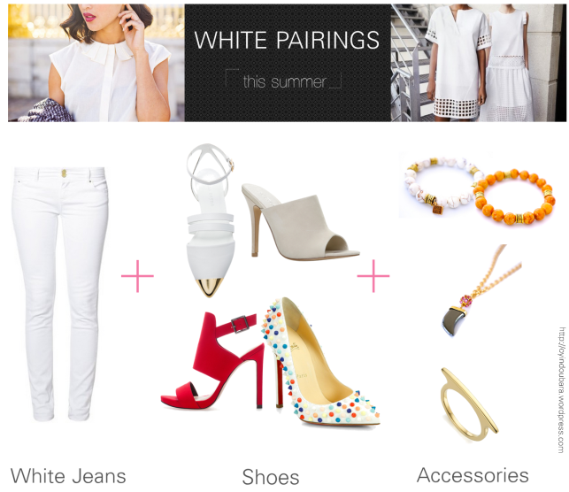 ways to wear white jeans this summer-oyindoubara-jewelry