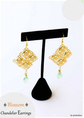 oyindoubara-Blossom chandelier earring-diy