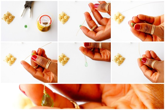 oyindoubara-diy-Blossom chandelier earrings-step4